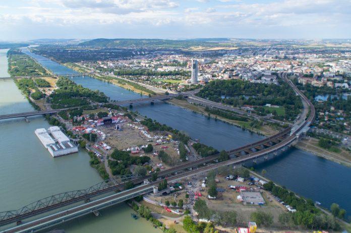 Donauinselfest 2018 von oben